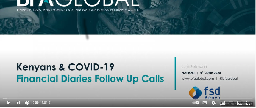 Webinar: The impact of COVID-19 on Financial Diaries respondents in Kenya