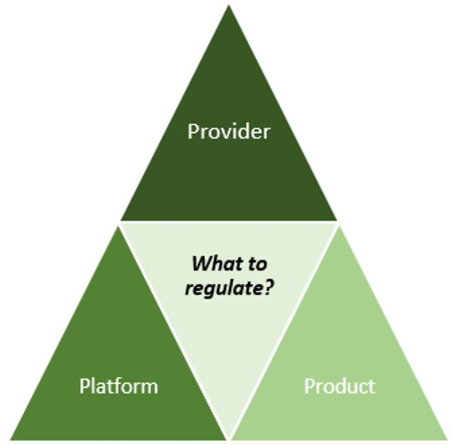 Provider, Platform, Product: Which 'P' should regulators target?